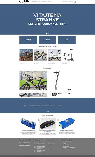 Stránky na kľúč - Elektrobicykle